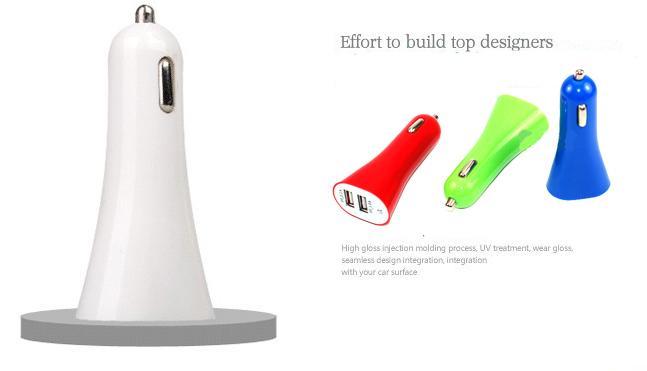 휴대 전화 충전기 미니 마이크로 듀얼 USB 자동차 다채로운 충전기 어댑터 포트 5V 1A 아이폰 6 5 Ipad 삼성 HTC LG 소니