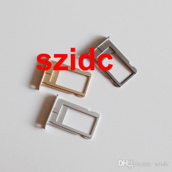 Бесплатный DHL EMS оригинальный новый nano SIM-карты лоток слот держатель запасные части для iPhone 6 Plus 5.5