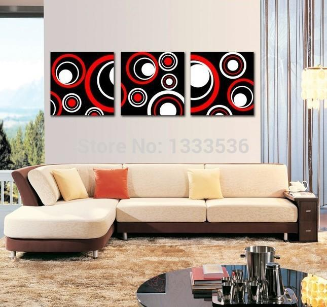 Black And Red Wall Art 2017 black white red abstract wall art oil paintings on canvas