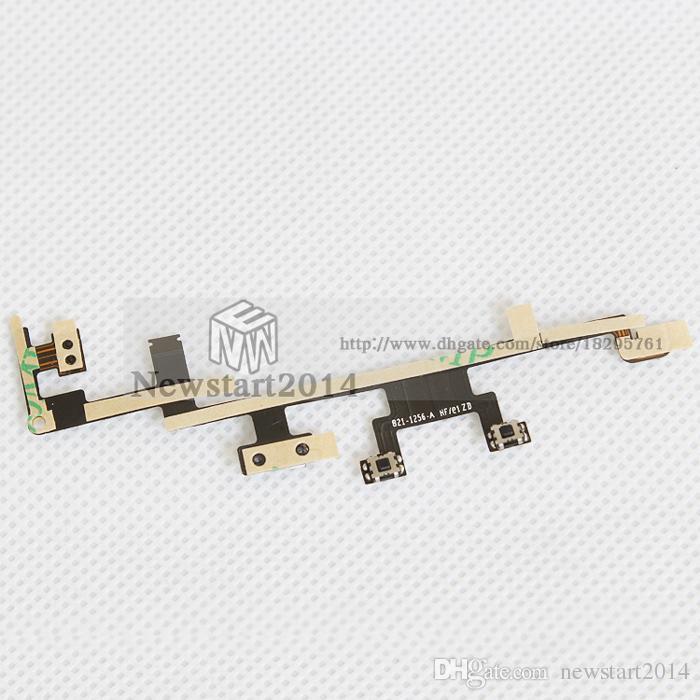 IPad 3/4 için Yüksek Kalite 100% Test Güç Düğmesi AÇIK KAPALI Anahtarı Ses Düğmesi Anahtar Flex Kablo Yedek yedek parça