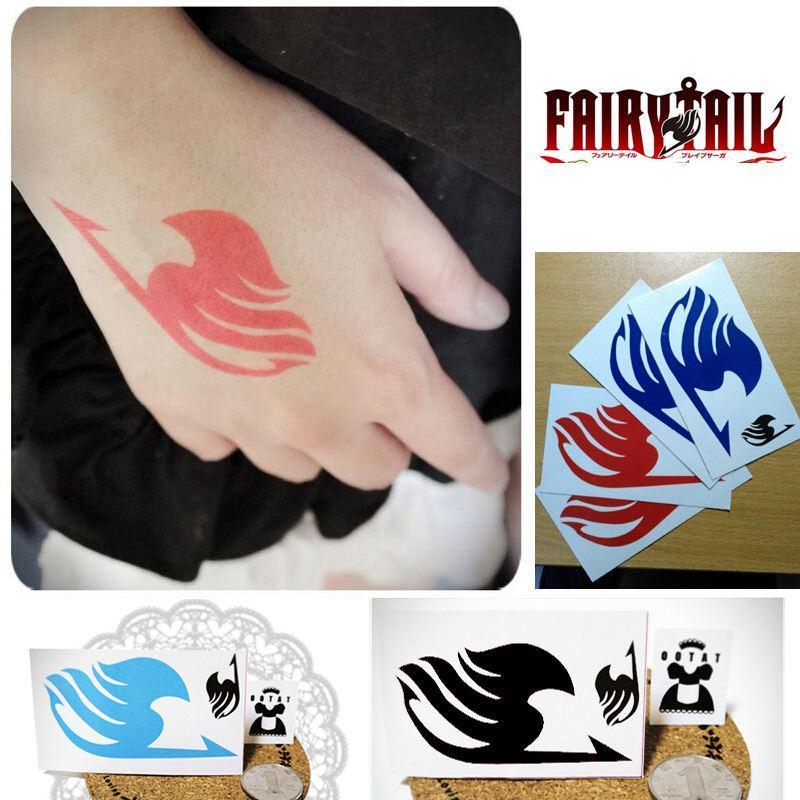 Fairy Tail Tattoo Sticker Natsu/Elza/Gray/Lucy Cosplay Temporary ...