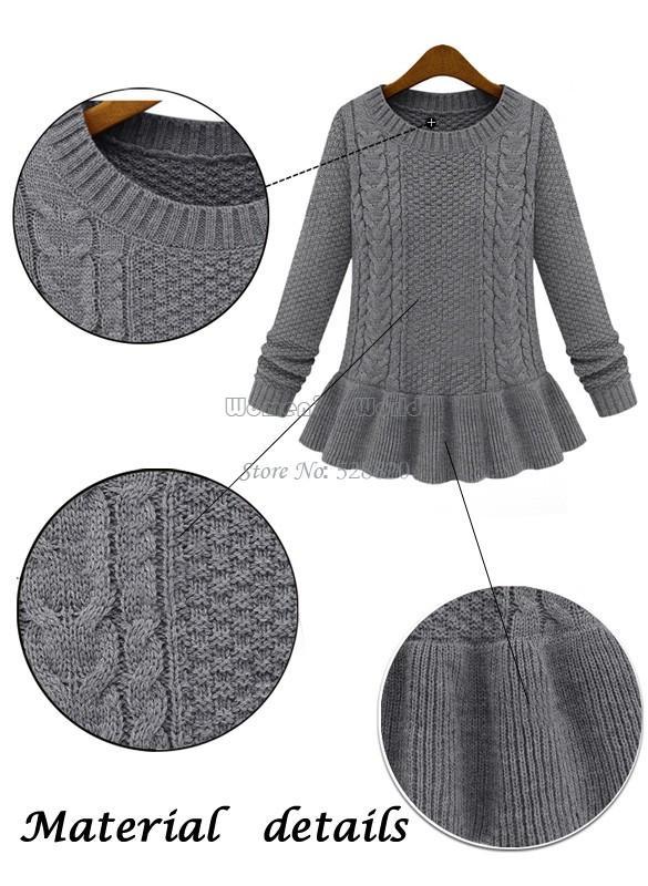 Heißer verkauf 2014 herbst winter frauen mode vintage rock twist pullover oansatz weiblichen pullover pullover sv18 19168