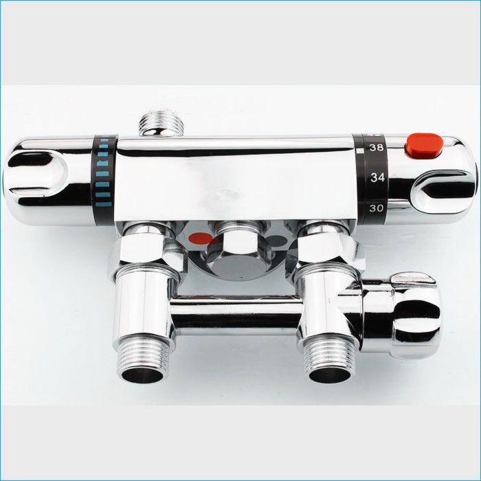 Zinklegering Zonne-thermostatische mengklep, oppervlakte-gemonteerde thermostatische mixer, douchekraan, J14296