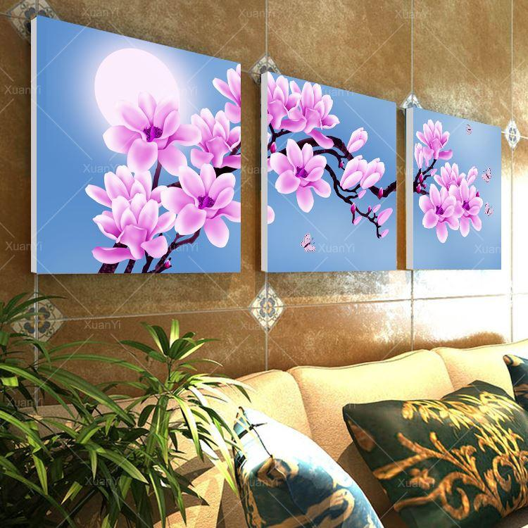 Flower Canvas Wall Art wall art canvas picture orchid flower landscape oil paintings