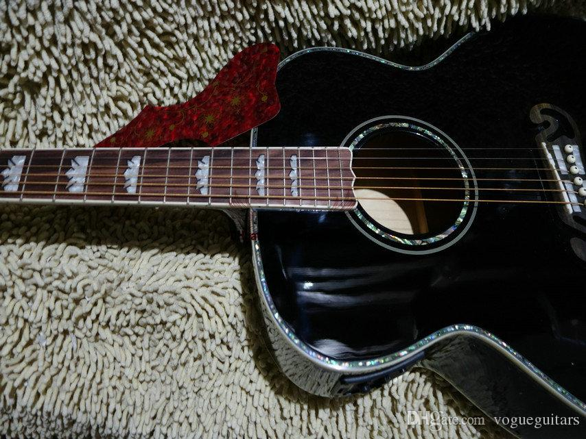Black Acoustic Electric Guitar Best guitar HOT Chinese guitar OEM Musical instruments High Quality Cheap
