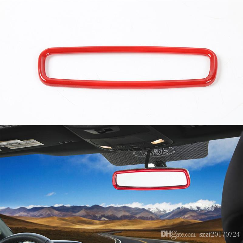 Inner Rear View Mirror Decoration Ring Trim Car Interior Accessories Fit ABS High Quality For Ford F150 2015-2016