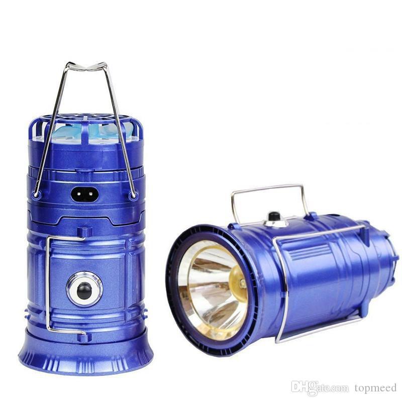 Luzes solares alimentadas com Ventilador portátil USB Telefone LED Lâmpada de Lanterna Solar Lanterna Colaborável Lanterna Ao Ar Livre Camping Camping Lâmpada
