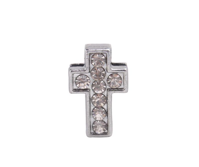 20 stks Mode Rhinestone Slide Cross Charms DIY voor 10mm lederen koord riem te koop # 92164