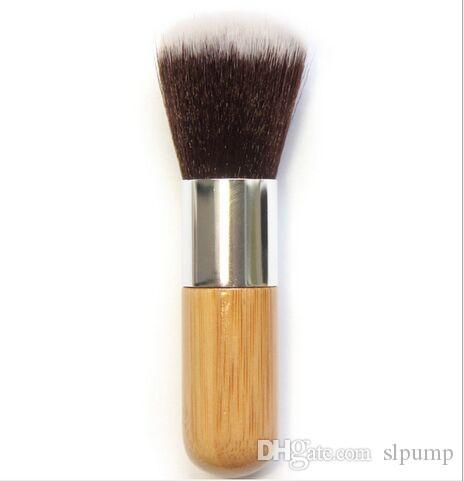 Base de maquillaje plana Cepillo superior suave Kabuki ronda cepillo multifunción en polvo Pulido EDM Fundación cepillo