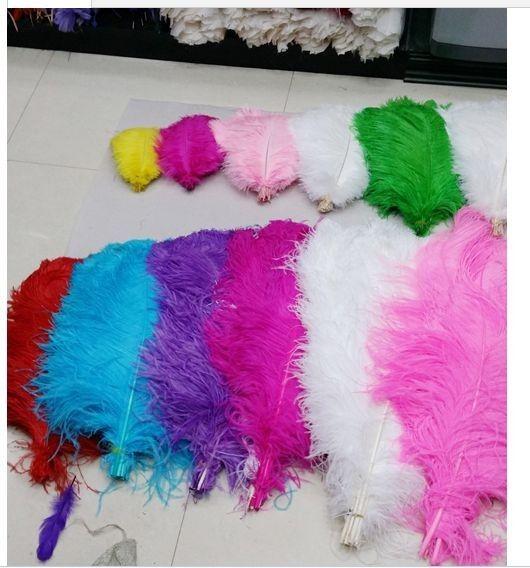 Горячие продажи 40-45cm 16-18inch пера страуса Plume розовый красный желтый синий белый Свадебный стол центральных украшения партии центральным