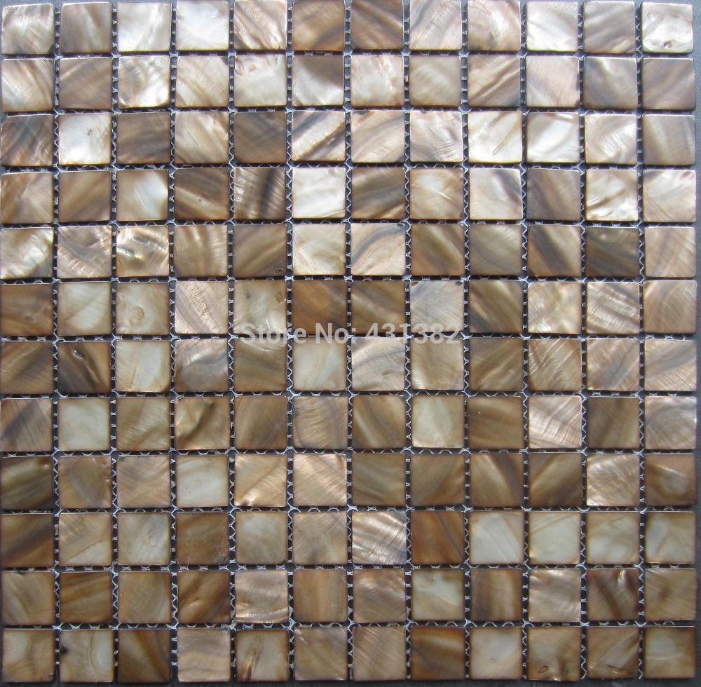 2018 Mosaic Tiles Coffee Dark Brown Kitchen Tile Backsplash Mother ...