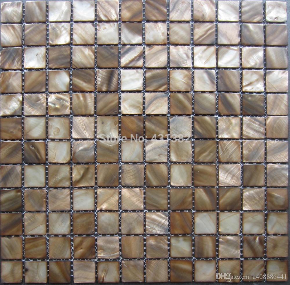 Acquista Tessere Mosaico Piastrelle Marrone Scuro Cucina Backsplash ...