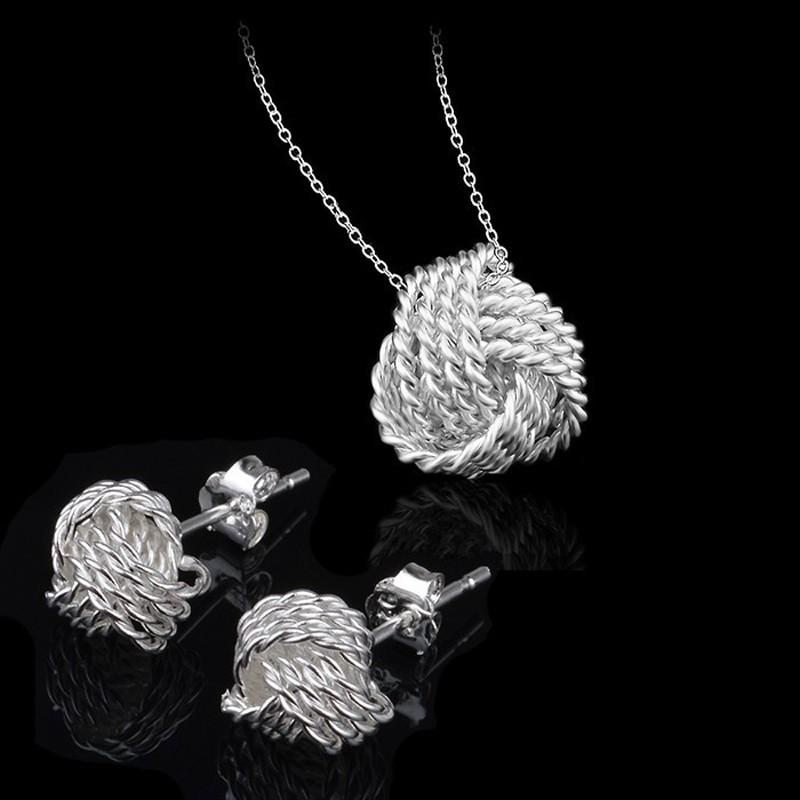 2018 Fancy 925 Silver Jewelry Sets Women Wedding Jewelry Set