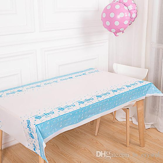 Color Birthday Party Table Cloth Disposable Waterproof Oilproof Dining Picnic Table Cover Festive Decoration for Sale