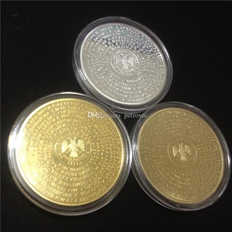 / liberano il trasporto, il campione olimpico di Londra 2012 atleti russi Placcato oro moneta commemorativa