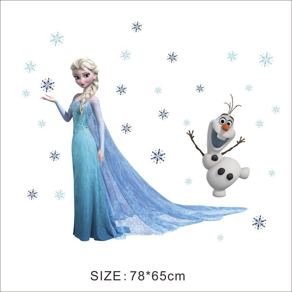 Queen elsa frozen wall stickers olaf decorative wall decal cartoon queen elsa frozen wall stickers olaf decorative wall decal cartoon wallpaper kids frozen decoration christmas wall art spiderman wall stickers sports wall amipublicfo Gallery