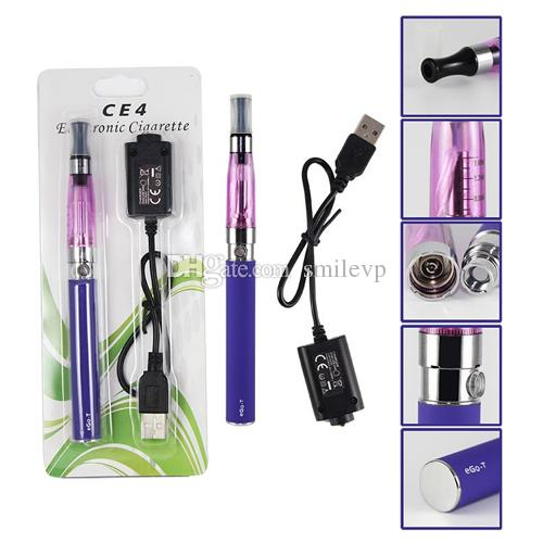 CE4 Electronic Cigarette Blister kits CE4 ego starter kit e cig 650mah 900mah 1100mah EGO-T battery blister case Clearomizer E-cigarette