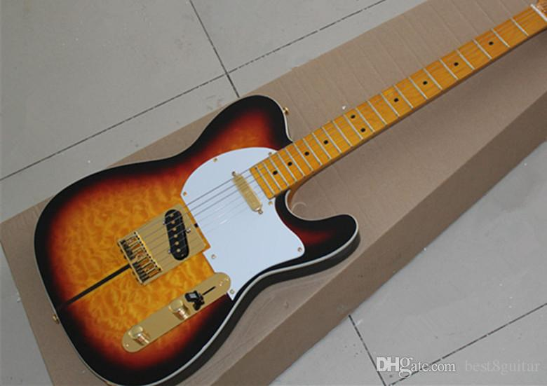 2016 New Arrival Custom Shop Merle Haggard Signature Tuff Dog Tele Sunburst Electric Guitar Telecaster Guitar Golden Hardware free shipping