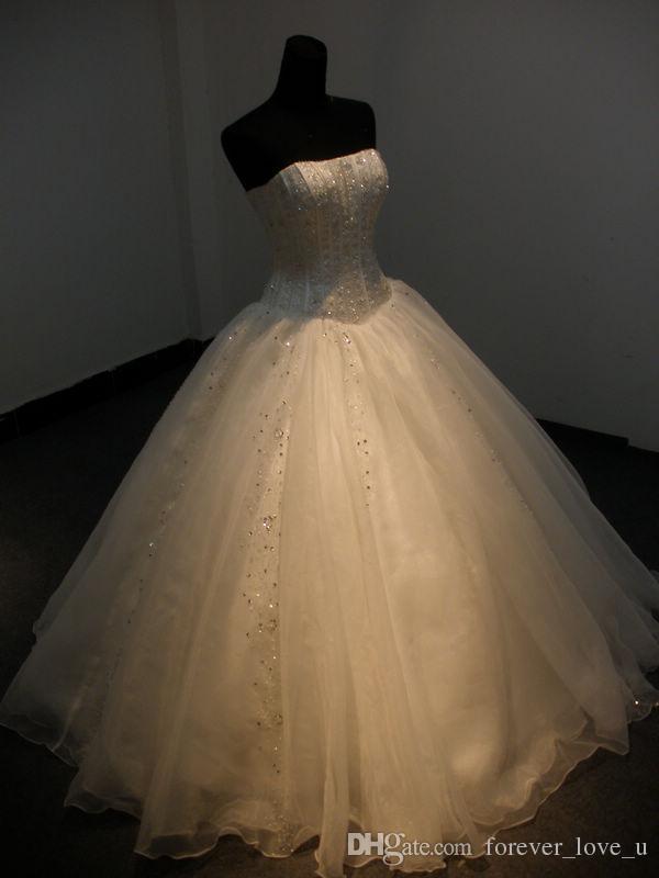 الصورة الحقيقية ثوب الكرة ثوب الزفاف حمالة أكمام أثواب الزفاف الدانتيل متابعة الأميرات فساتين مع الخرز والترتر تول