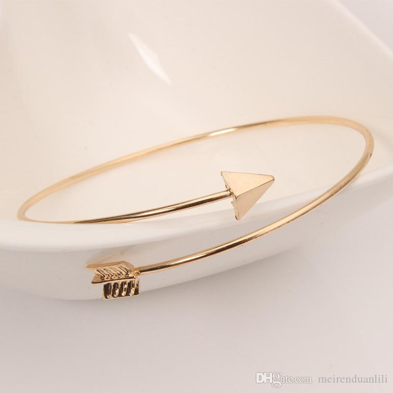 Arrow Opening Bracelet Rose Gold Color Female Fashion Jewelry For Women Men Wholesale Jewelry Wedding Accessories Gift