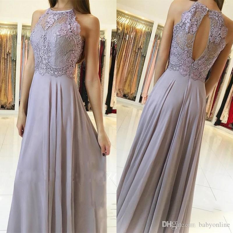 Weddings & Events New Fashion 2018silver Sequin Evening Dress Long 2018 A-line V Neck Floor Length Lace Prom Dress Women Formal Prom Evening Gown Abendkleider