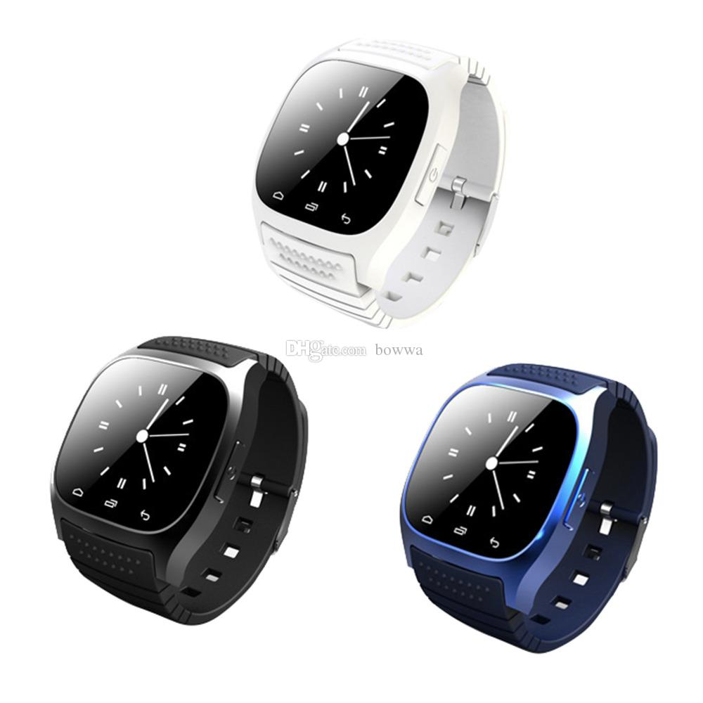 Smartwatch M26 Bluetooth Wireless Wearable Device Smart Watch Sport Watch For Samsung Note 7 Universal Android Cellphone with Retail Box