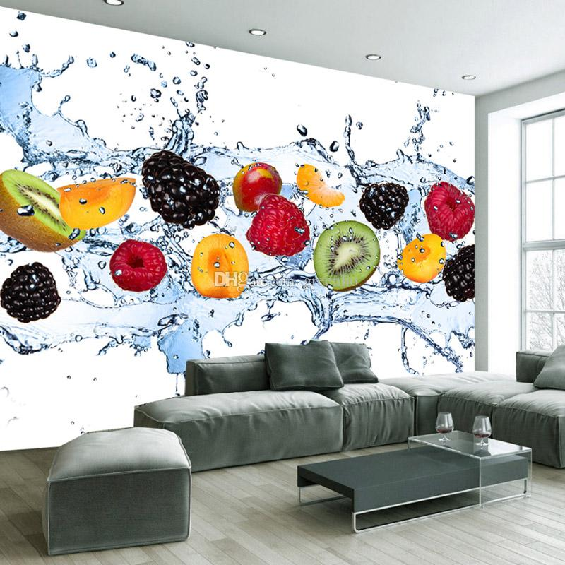 Fresh fruit wallpaper minimalist style wall mural d tv