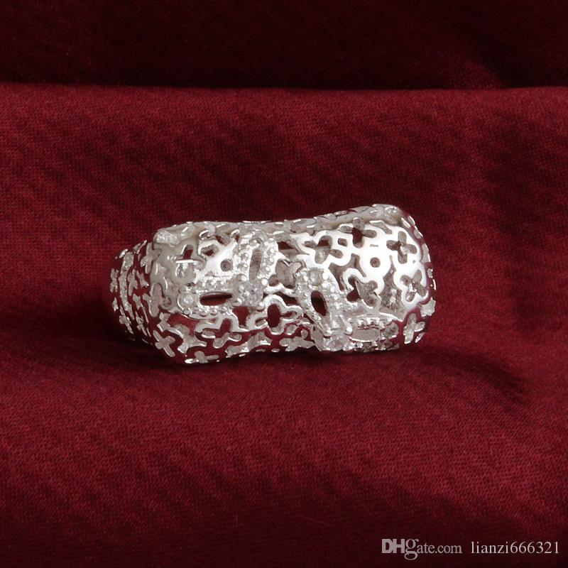 New 925 Sterling Silver fashion jewelry Elegant luxury zircon ring hot sell girl gift 1499