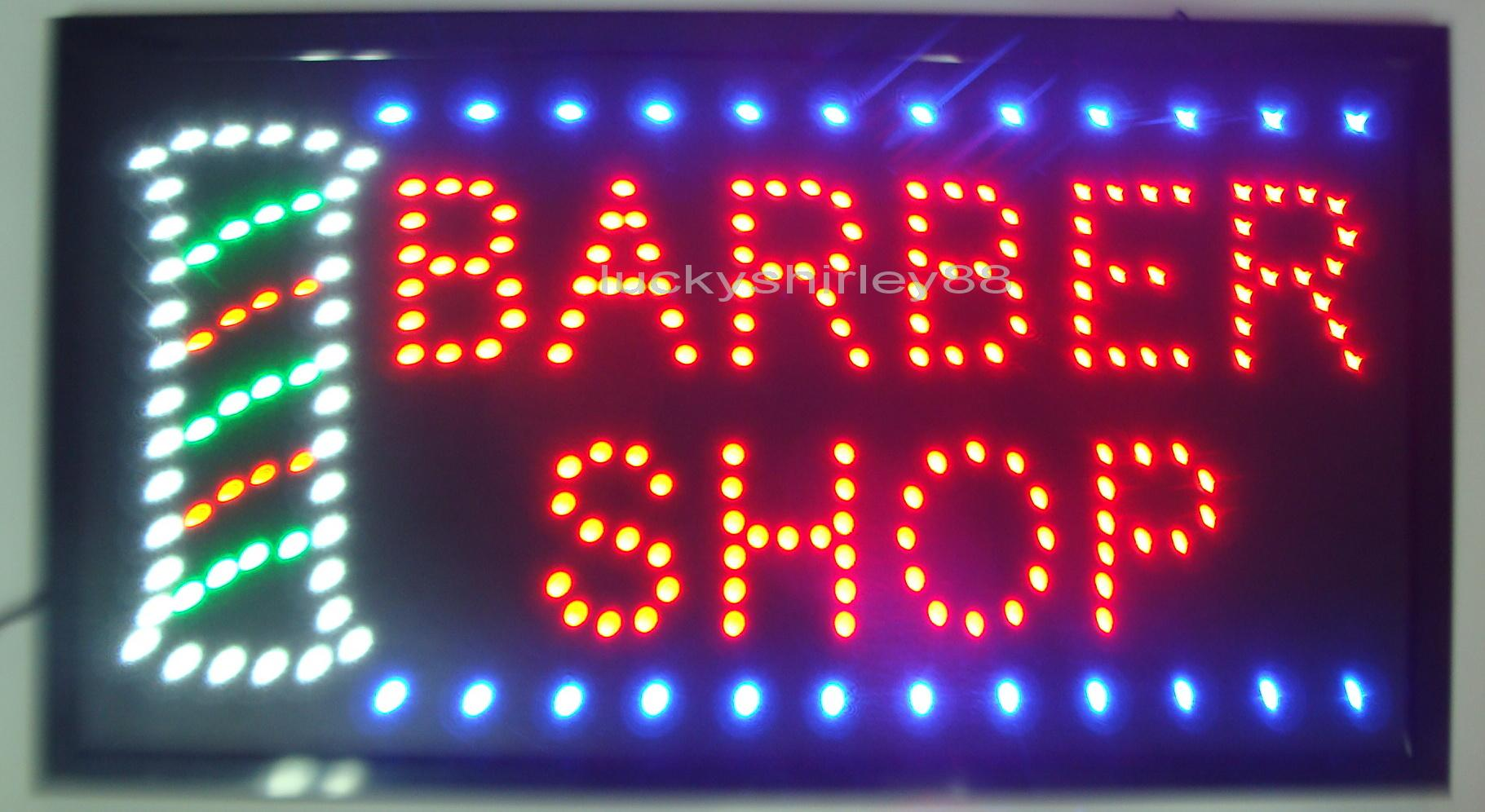 Completely new Wholesale 2016 Hot Sale Direct Selling Led Barber Shop Signs  VL65