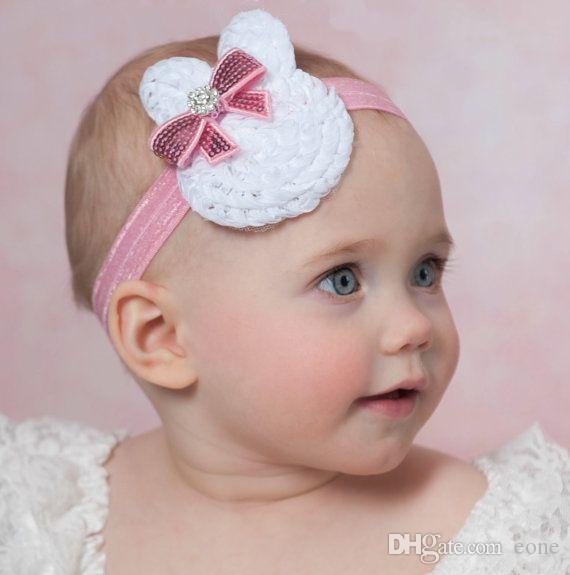 Easter Bunny Headband With Bow Easter Headband Baby Headband Infant Headband cb0e03f4218