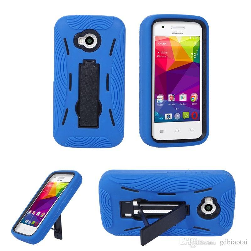 WHOLESALE CELL PHONE CASE HEAVY DUTY Shockproof Silicone+PC Fashion Soft For BLU Dash L/D050U
