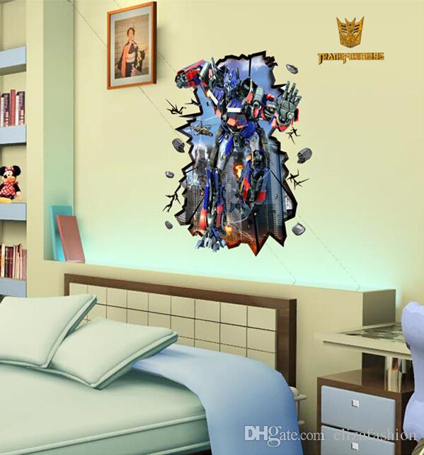 transformers wall stickers waterproof boys room d cor wall decals rh dhgate com