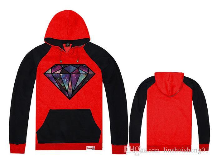Diamond Supply Hoodies Hoody Sudadera Hombre Men And Women Couple Cotton Round O-Neck Diamond Hip Hop Hoodie Jacket Coat