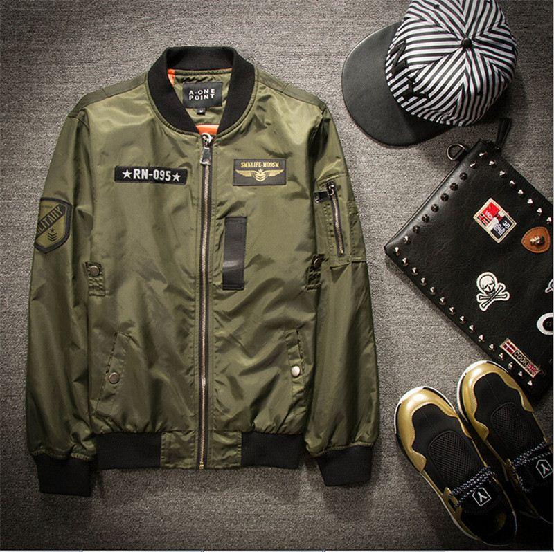 Air Force 1 Mens Ma1 Bomber Jacket With Epaulets Military Style ...