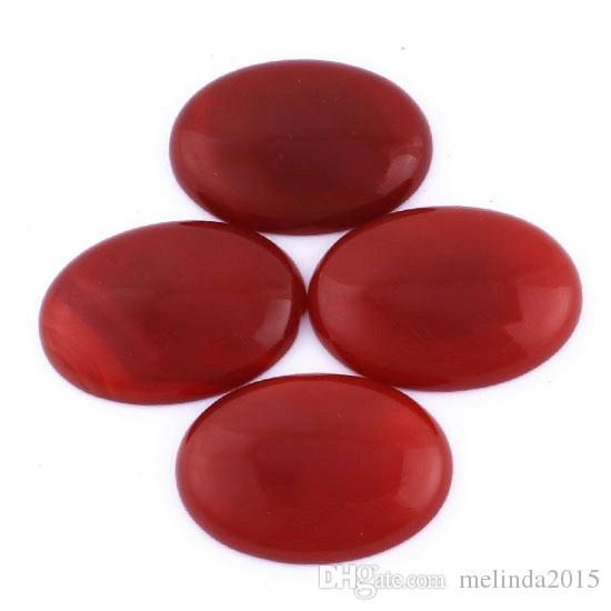 25x35mm Beautiful India Agate Rhodonite etc Natural Stone Oval Beads Cabochon Bead Jewelry Findings Accessories Diy Jewelry Making