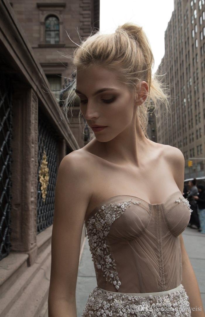 2019 Inbal Dror Mermaid Lace Wedding Dresses Beads Applique Backless Trumpet Bridal Gowns Beach Vintage Wedding Dress