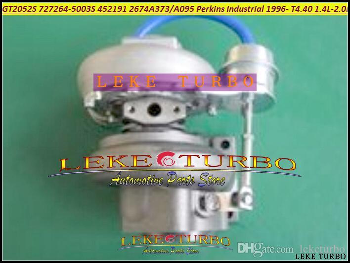 도매 새로운 GT2052S 727264-5003S 452191-0003 2674A095 2674A373 퍼킨스 산업을위한 터보 터보 충전기 1996 년 - T4.40 1.4L-2.0L
