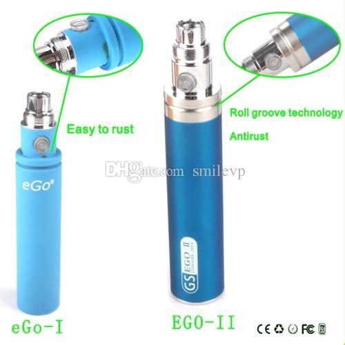 E cigarette eGo II big battery 2200mah capacity eGo 2 vaporizer for CE4s mt3 protank aerotank Nautilus mods 510 ego atomizer