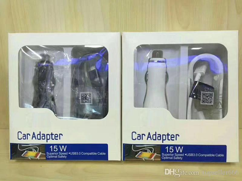 2 in 1 High Quality Car Charger Kits 1.67A 5V Fast Charging Adapter 5V 2A USB Charging Cable
