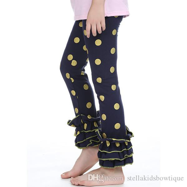 tight kids peach girls pants metallic gold polka dot baby girls legging for toddler birthday outfit