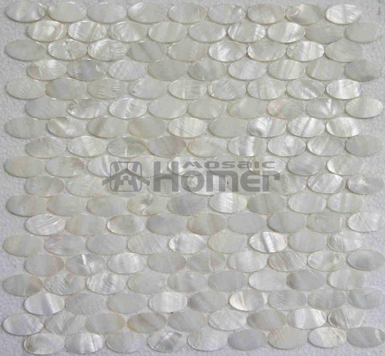 2018 White Mother Of Pearl Tiles Oval Mosaic For Wall Mosaic Tiles White  Oval Shell Tiles Mother Of Pearl Backsplash Bathroom Shower From Goldclub,  ...