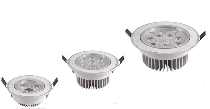 3W 5W 7W 9W 12W Faretti a incasso a LED Faretti a soffitto Lamp AC 85-265V Bianco caldo Bianco naturale Bianco freddo 30 gradi Angolo del fascio Buona Dissipatore di calore