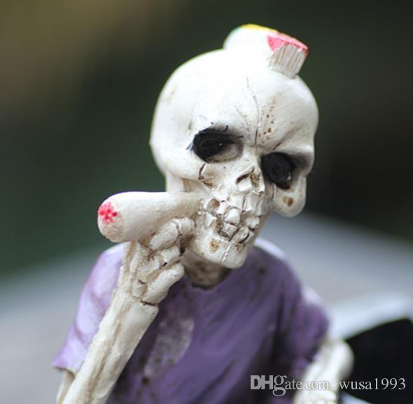 Grossisti liberi di trasporto ----- 2015 nuovo portacenere personalità creativo grande antico scheletro in resina, dimensioni del prodotto 12 * 10 * 12 cm, personalizza