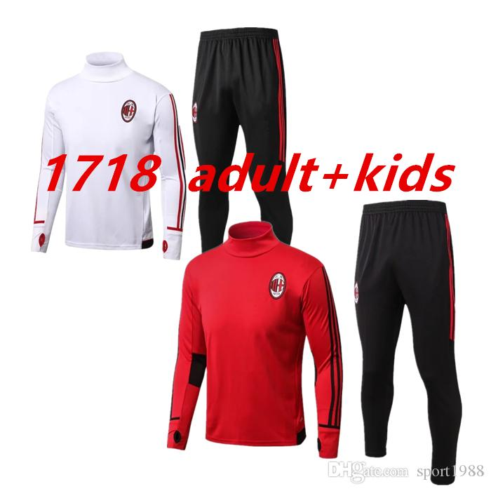 2de374672 Top Quality AC Milan Soccer Tracksuit Kit 2017 2018 CALHANOGLU ANDRE ...