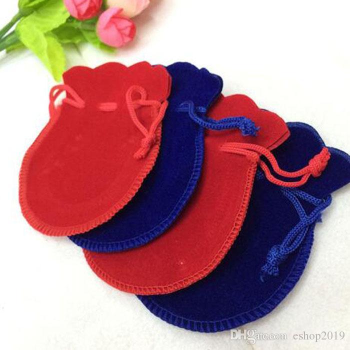 velours bijoux pochettes bague boucles d'oreilles pendentif charme emballage sac bundle cadeau sacs taille 7.5 * 9.5cm livraison gratuite