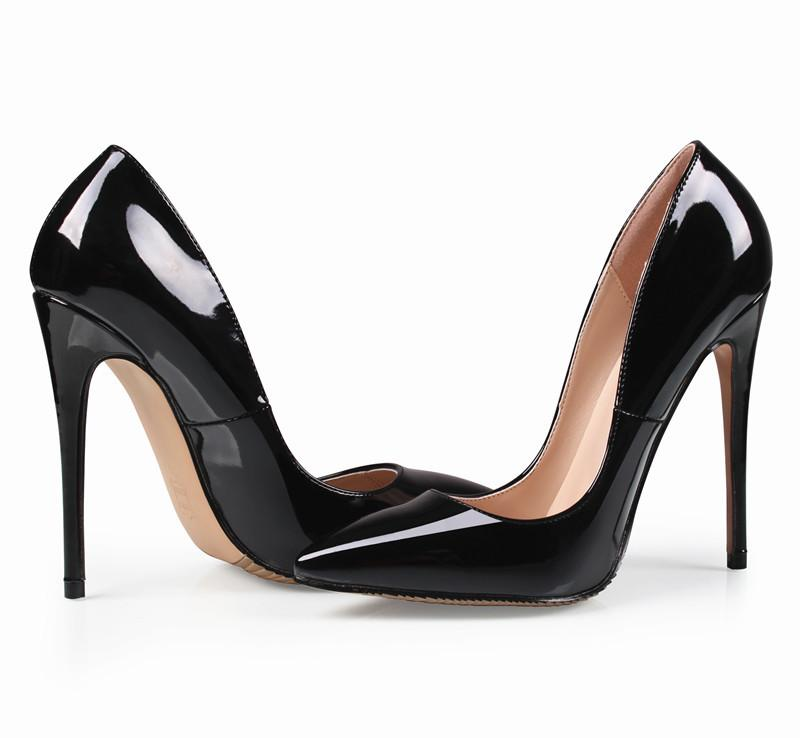 cd6119b67e Brand 12CM Woman Wedding Bridal Black Office Shoes Low For Ladies Red  Bottom High Heeled Heels Women Dress Pumps Wedge Shoes Casual Shoes For Men  From ...
