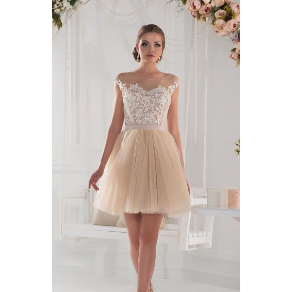 2015 Fashion Short Champagne Cocktail Dresses Cap Sleeves ...