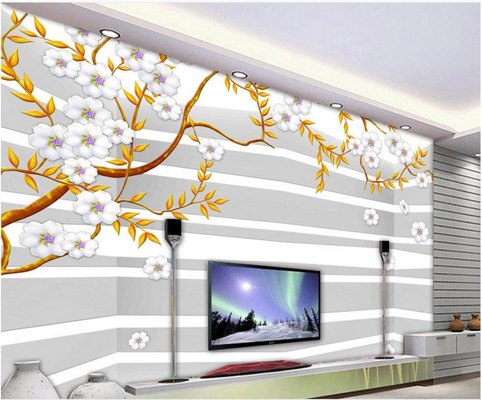 Custom photo wallpaper large 3d sofa tv background for Mural 3d simple
