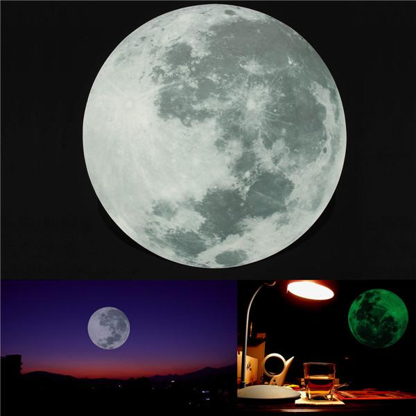 Removable Glow In The Dark Luminous Moon Wall Window Sticker Dia 30cm  Order≪$18no Track Wall Mural Decals Cheap Wall Mural Sticker From Kepiwell,  ...