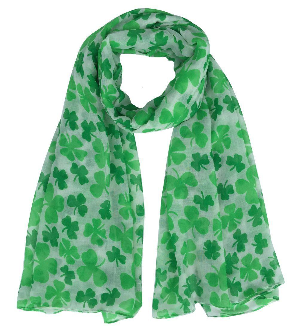 four leaf clover shamrock print women u0027s large size scarf st